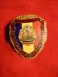Insigna Militar de Frunte ,probabil RPR , h= 4 cm, Romania de la 1950