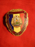 Insigna Militar de Frunte ,probabil RPR , h= 4 cm