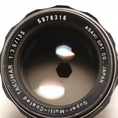 SMC Takumar 135mm f3.5 - montura M42 - Obiectiv DSLR Pentax, Tele, Manual focus