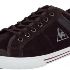 41_Adidasi de piele Originali Le Coq Sportif_barbati_maro_in cutie - Tenisi barbati Le Coq Sportif, Piele naturala