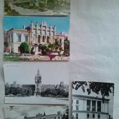 Lot 5 carti postale Iasi - Carte Postala Moldova dupa 1918, Circulata