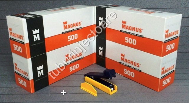 PACHET AVANTAJ MAGNUS 23 - 2000 tuburi tigari MAGNUS filtru normal+INJECTOR foto mare