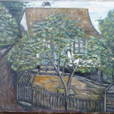 Casa veche - semnat Ronner 1927 - Pictor roman