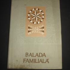 AL. I. AMZULESCU - BALADA FAMILIALA * TIPOLOGIE SI CORPUS DE TEXTE POETICE