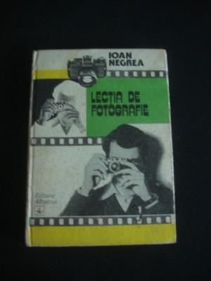 IOAN NEGREA - LECTIA DE FOTOGRAFIAT {1984} foto