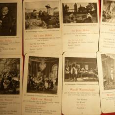 Set Scolastic -19 Ilustratii ,inc.sec.XX- Pictura ,datele pictorilor