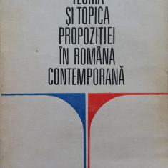 TEORIA SI TOPICA PROPOZITIEI IN ROMANA CONTEMPORANA - V. Serban - Culegere Romana