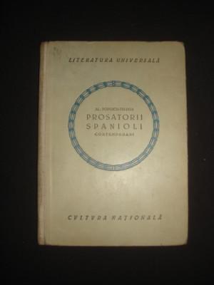 AL. POPESCU-TELEGA - PROSATORII SPANIOLI CONTEMPORANI {1923} foto