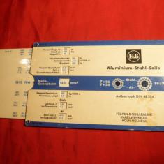 Dispozitiv carton pt det. dimensiuni cablu otel-aluminiu-Felten & Guilleaume
