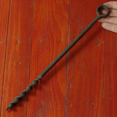 Scule / unelte - Burghiu - sfredel vechi de mana pentru lemn - tamplarie !! - Metal/Fonta