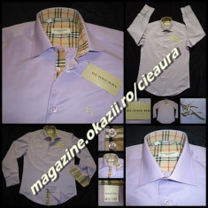 CAMASA MOV BARBATI GEN FIRMA BURBERRY REGULAR MANECA LUNGA 100% SATIN BUMBAC