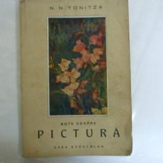 N. N. Tonitza Note despre pictura Bucuresti 1947 - Album Arta