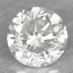 !! DIAMANT NATURAL ALB superb 0, 23ct. si 3, 72 mm diametru, Briliant