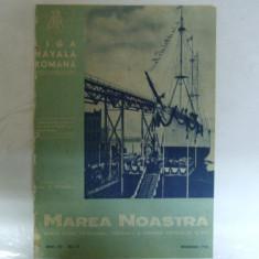 Marea Noastra Revista ligii navale romane Anul VII Nr. 11  Noiembrie 1938