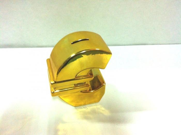 Pusculita  ceramica de bani in forma de euro