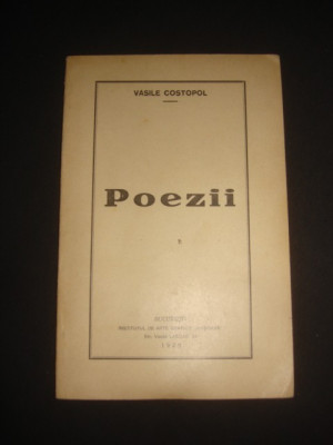VASILE COSTOPOL - POEZII {1928} foto