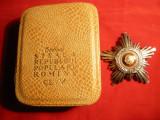 Ordinul Steaua R.P. Romania cl.V ,in cutie originala , argint