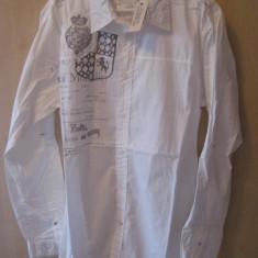 Camasa Marca GUESS Model slim fit 100% ORIGINALA Culoare Alba Marime L cumparata SUA - Camasa barbati Guess, Marime: L, Maneca lunga