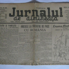 ZIARUL JURNALUL DE DIMINEATA DIN MIERCURI 5 FEBRUARIE 1947