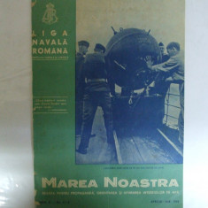 Marea Noastra Revista ligii navale romane Anul X Nr. 4 - 5  Aprilie - Mai 1941