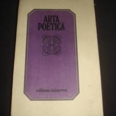 FLORIN SINDRILARU - ARTA POETICA * ANTOLOGIE DE LIRICA ROMANEASCA {1983} - Carte poezie