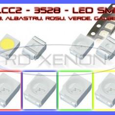 SET 10 BUC LED LEDURI SMD PLCC2 3528 - ILUMINARE INTERIOR AUTO, BORD - Led auto ZDM, Universal