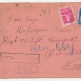 REGATUL ROMANIEI.plic adresat lui Hatiegan Ioan,stampila CENZURAT BLAJ,timbre Regele Mihai,1943