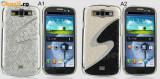 Husa Samsung Galaxy S3 i9300 i9301 i9305 + folie protectie display + stylus, Argintiu, Alt material