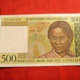 Bancnota 500 Franci Madagascar, cal.NC