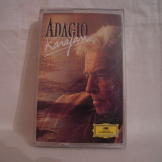 Vand caseta audio Karajan-Adagio-The Classical Romance Collection, originala - Muzica Clasica deutsche harmonia mundi, Casete audio