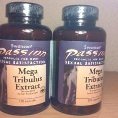 MEGA TRIBULUS TERRESTRIS, 250 mg, 120 de capsule, cu 20% saponine, import SUA - Supliment nutritiv