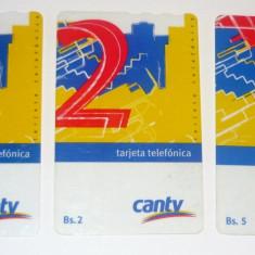 Set / Lot 3 cartele telefonice - VENEZUELA - CARTELA TELEFONICA - 2+1 gratis toate produsele la pret fix - CHA966 - Cartela telefonica straina