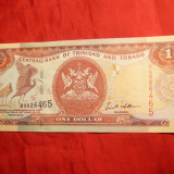 Bancnota 1 Dolar 2002 Trinidad Tobago, cal.NC