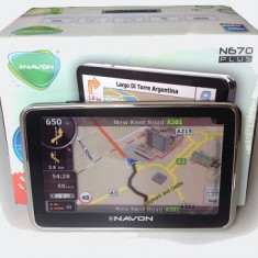 GPS Navon N670 Touch screen 5 inch, 5 inch, Toata Europa, Lifetime, peste 32 canale, Comanda vocala: 1