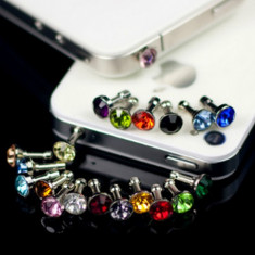 Ornament dop Jack 3, 5mm cu diamant Rhinestone - Bijuterii Telefon, Transparent