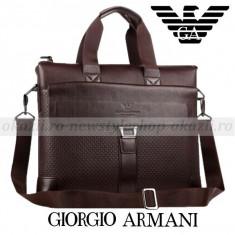 GIORGIO ARMANI - Geanta laptop Business Lux - Geanta Barbati