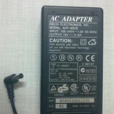 Incarcator Alimentator Laptop Delta Electronics API-7595 19V 2.40A ORIGINAL Connecter size: Int 2.50mm Ext. 5.5 mm - Incarcator Laptop Acer, Incarcator standard