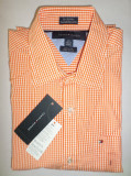 Camasa originala Tommy Hilfiger - barbati S -100% AUTENTIC, Maneca lunga, Orange