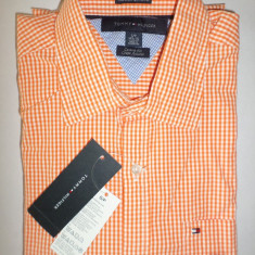 Camasa originala Tommy Hilfiger - barbati S -100% AUTENTIC, Maneca lunga, Orange