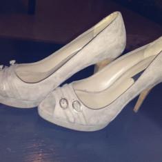 Pantofi ZARA - Pantof dama Zara, Culoare: Bej, Marime: 38, Bej