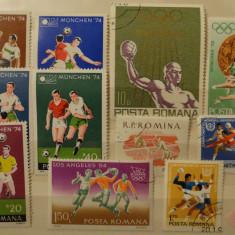 Sport - Sporturi cu mingi - Lot S102 - Lot timbre Romania - stampilate