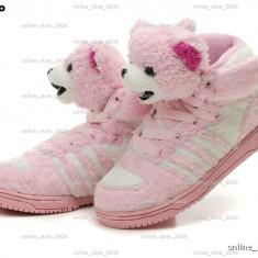 Adidas Jeremy Scott Teddy Bear pink. - Adidasi dama, Culoare: Roz, Marime: 34, 35