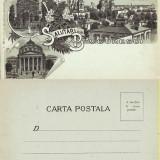 Salutari din Romania ( Bucuresti ) - litografie cca 1900