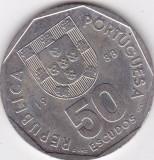 PORTUGALIA 50 ESCUDOS 1988, Europa