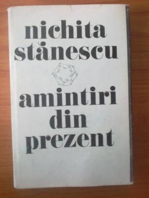 h5 Nichita Stanescu - Amintiri din prezent foto