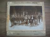 Fotografie militara mare din 1912.Vanatori de munte,dim:27/25