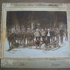 Fotografie militara mare din 1912.Vanatori de munte, dim:27/25
