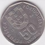 PORTUGALIA 50 ESCUDOS 1986 KM# 636, Europa