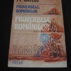I. C. HINTESCU - PROVERBELE ROMANILOR {1985}
