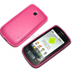 Husa silicon roz LG OPTIMUS ONE P500 + folie protectie ecran + expediere gratuita Posta - sell by Phonica